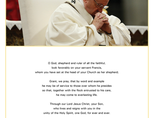 Prayer for Pope Francis
