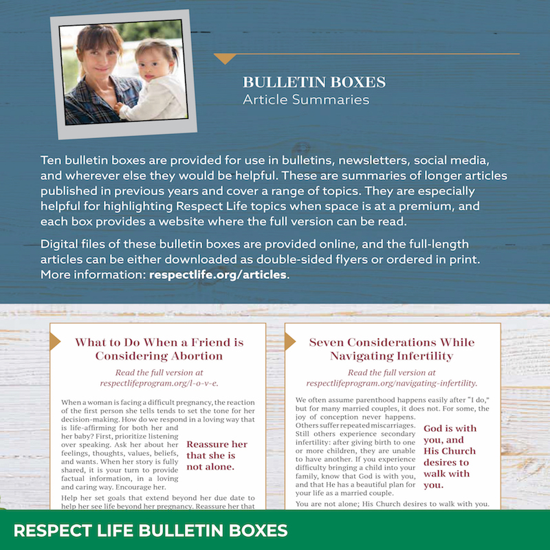 Respect Life Bulletin Boxes