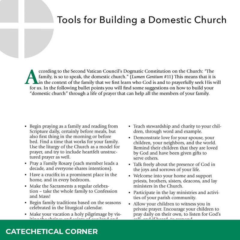 Tools for Building a Domestic Church
