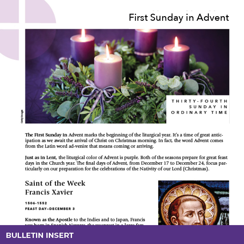 Bullet Insert – First Sunday in Advent