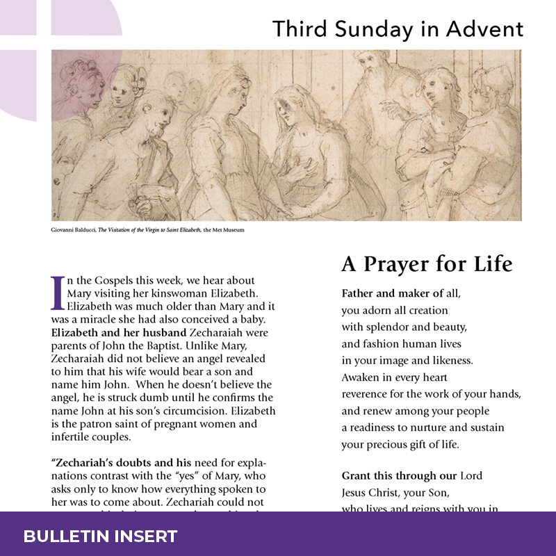 Bulletin Insert – Third Sunday in Advent